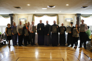 Fr. Anthony presented the parish leaders with St. Michael slates.